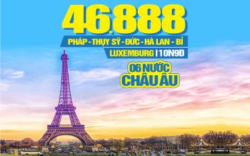 Hành trình Châu Âu 6 nước: Đức | Hà Lan | Bỉ | Luxembourg | Pháp | Thụy Sĩ 10N9Đ