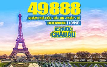 Hành trình Châu Âu 5 nước: Đức | Hà Lan | Pháp | Bỉ| Luxemburg |10N9Đ KH Đà Nẵng