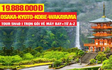 Du Lịch Nhật Bản OSAKA | KYOTO | KOBE | NARA | WAKAYAMA | 5N4Đ Bay Thẳng Đến Nhật
