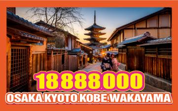 Du Lịch Nhật Bản Osaka - Kyoto - Kobe -Wakayama 5N4Đ Bay thẳng từ HCM 18tr888