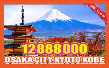 Du Lịch Nhật Bản Osaka - Kyoto - Kobe 4N3Đ