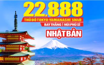 Du lịch Nhật Bản Tokyo | Núi Phú Sĩ 4Sao 5N4Đ Bay thẳng 22tr888