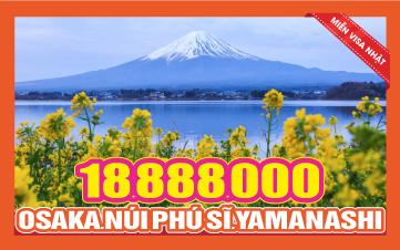 Tour Nhật Bản OSAKA - NÚI PHÚ SỸ - YAMANASHI - NAGOYA - NARA 5N4Đ
