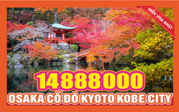 Tour Nhật Bản - Osaka - Kyoto - Kobe - 4n3d