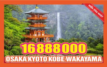 Du lịch Nhật Bản Hè OSAKA - KYOTO - KOBE - WAKAYAMA - NARA 5N4Đ