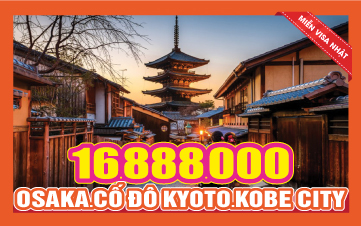 Du Lịch Nhật Bản Osaka - Kyoto - Kobe -Wakayama 5N4Đ Bay thẳng từ HCM