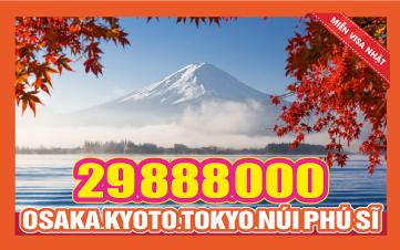 Du lịch Nhật Bản Hè 6Ngày 5Đêm 4Sao Osaka | Kyoto | Núi Phú Sĩ | Tokyo