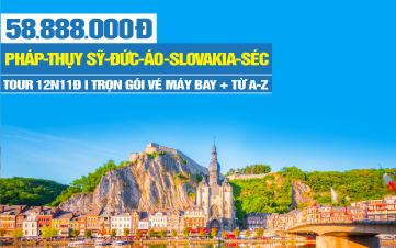 DU LỊCH 07 QG ĐÔNG ÂU - PHÁP | THỤY SỸ | ĐỨC | ÁO | HUNGARY | SLOVAKIA | SÉC | 12N11Đ