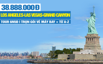 Du Lịch Bờ Tây Hoa Kỳ - Los Angeles | Las Vegas | Grand Canyon | Hoover Dam | San Francisco | San Jose | 6N5Đ