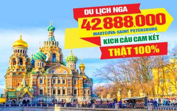 Du lịch Nước Nga | Moscow | Saint Petersburg 8N7Đ