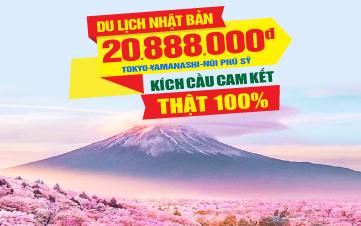 Du lịch Nhật Bản Tokyo   Núi Phú Sĩ 4Sao 5N4Đ Bay thẳng