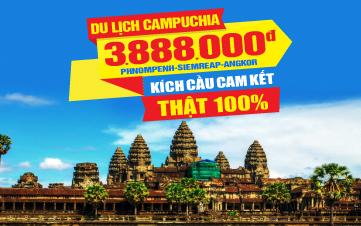 Tour du lịch Campuchia | Siemreap | Angkor Wat | Thủ Đô Phnompenh |  4N3Đ