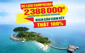 Du lịch Campuchia Ngủ Đảo Korhong 3N2D