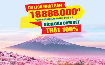 Du lịch Nhật Bản Tokyo | Núi Phú Sĩ 4Sao 5N4Đ Bay thẳng