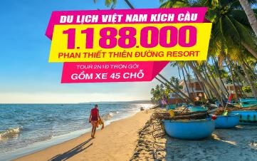 Du Lịch Phan Thiết Thiên Đường Resort 4SAO 2N1Đ