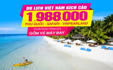 Du lịch Phú Quốc | Vinpearland | Tắm biển Bãi Sao 3N2Đ