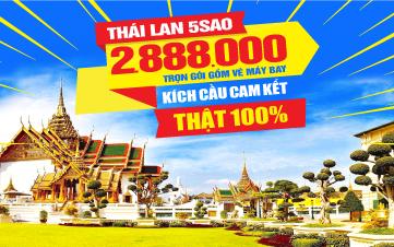 Du Lịch Thái Lan 02 ĐÊM KHÁCH SẠN 5SAO 2tr888 Bangkok - Pattaya 4N3Đ