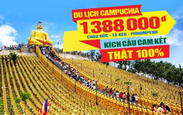 Tour du lịch Campuchia Châu Đốc | Tà Keo | Thủ Đô Phnomphenh | 3N2Đ