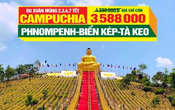 Du lịch Tết Campuchia Kép | Tà Keo | Thủ Đô Phnomphenh | 3N2Đ