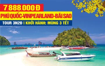 Tour du lịch trong nước Tết Nguyên Đán Phú Quốc | Vinpearland | Tắm biển Bãi Sao 3N2Đ