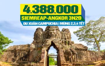 Tour du lịch Tết Nguyên Đán Campuchia | Quần Thể Angkor Vip Tour | PhnomPenh | Siemreap | Cầu Rồng Cổ | 3N2Đ