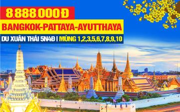 Tour Du Lịch Tết Nguyên Đán Thái Lan 5Sao | Bangkok | Pattaya | Ayutthaya | 5N4Đ