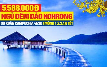 Tour du lịch Tết Nguyên Đán 2020 Campuchia Ngủ Đảo Kohrong 4 sao | Phnomphenh  | Hoàng Cung | Chùa Vàng | 4N3Đ