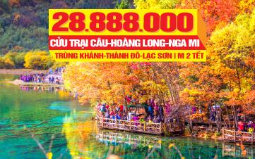 Du lịch Tết Thành Đô | Hoàng Long | Cửu Trại Câu | Nga Mi Sơn 11N10Đ