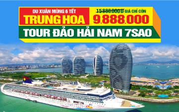 Du lịch Tết  Đảo Hải Nam   Tour nghỉ nghỉ dưỡng, giải trí 5sao   5N4Đ