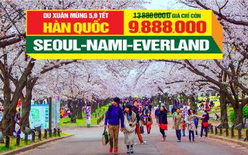 Du lịch Tết SEOUL   NAMSAN TOWER   ĐẢO NAMI   EVERLAND   5N4Đ