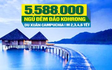 Tour du lịch Tết Nguyên Đán Campuchia Ngủ Đảo Kohrong 4 sao | Phnomphenh  | Hoàng Cung | Chùa Vàng | 4N3Đ