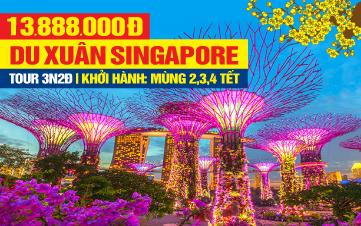 Tour Du Lịch Tết Nguyên Đán Singapore 4Sao | Gardens by the Bay | Sentosa | Botanic | 3N2Đ