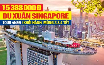 Tour du Lịch Tết Nguyên Đán Singapore 4Sao | Garden By The Bay | Marina Bay Sands | Jurong Bird Park | Đảo Sentosa | 4N3Đ