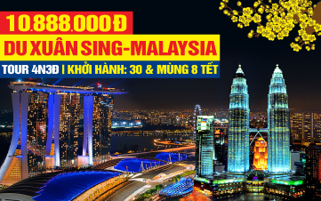 Du lịch Tết [Malaysia - Singapore] 4Sao Kualalumpur | Malacca | Joho City 4N3Đ