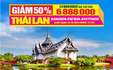Tour Du Lịch Tết Nguyên Đán Thái Lan 5Sao   Bangkok   Pattaya   Ayutthaya   5N4Đ