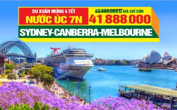 Du Lịch Úc Tết Sydney - Melbourne - Canberra 7N6Đ