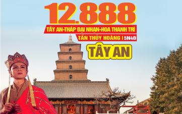 Tour du lịch Trung Quốc  khám phá Tây An - Lăng Mộ Tần Thủy Hoàng 5N4Đ