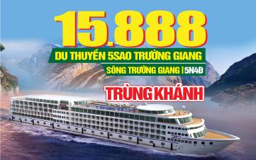 Tour du lịch Trung Quốc | Du thuyền trên sông Trường Giang | 5N4Đ