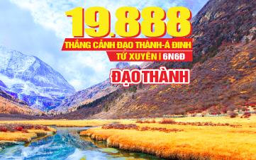 Tour du lịch Trung Quốc lễ 2/9 - TÂY TẠNG tại TỨ XUYÊN thắng cảnh Á Đinh - Đạo thành thiên đường tận cùng nhân gian