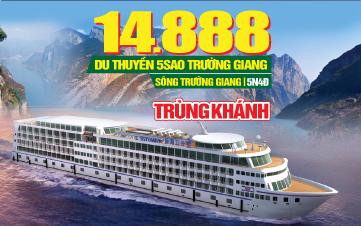 Tour du lịch Trung Quốc Lễ 2/9 | Du thuyền trên sông Trường Giang | 5N4Đ