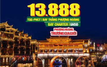 Tour du lịch Trung Quốc lễ 2/9 | Phượng Hoàng Cổ Trấn | Trương Gia Giới | Siêu Trùng Khánh | Vũ Long | 6N5Đ