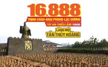 Tour du lịch Trung Quốc lễ 2/9 | Lăng Mộ Tần Thủy Hoàng | Tây An | Trịnh Châu | Lạc Dương | Khai Phong | Thiếu Lâm Tự | 6N6Đ