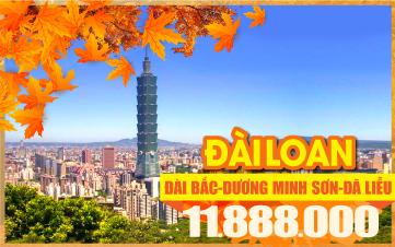Tour du lịch mùa thu Đài Bắc - Dương Minh Sơn - Da Liễu - 4N3Đ