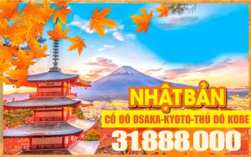 Du lịch mùa thu Nhật Bản | CUNG ĐƯỜNG VÀNG Bay thẳng từ HCM Osaka | Kyoto | Núi Phú Sĩ | Tokyo 4sao 7N6Đ