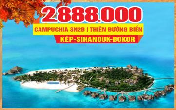 Tour du lịch mùa thu Campuchia 4Sao   PhnomPenh   Đảo KohRong   3N2Đ
