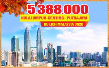 Tour Du lịch mùa thu Malaysia Kualalumpur | Putrajaya | Genting | 3N2Đ