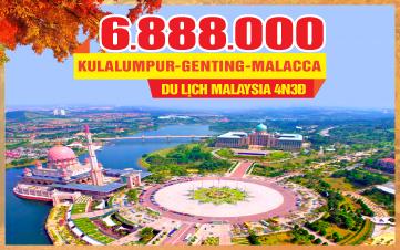 Tour Du lịch mùa thu Malaysia 5Sao | Kualalumpur | Putrajaya | Malacca | Genting | 4N3Đ