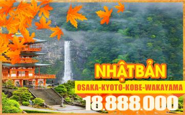 Du Lịch Mùa Thu Nhật Bản OSAKA | KYOTO | KOBE | NARA | WAKAYAMA | 5N4Đ Bay Thẳng Đến Nhật