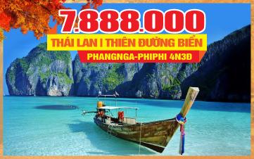 Tour du lịch mùa thu Thái Lan thiên đường Phuket | đảo Phi Phi | vịnh Phang Nga | chùa Kathu