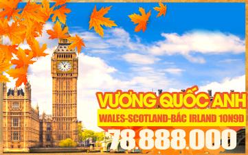 Tour Du Lịch Anh Quốc Miền Kí Ức Cổ Kính - England | Wales | Scotland 9N8Đ